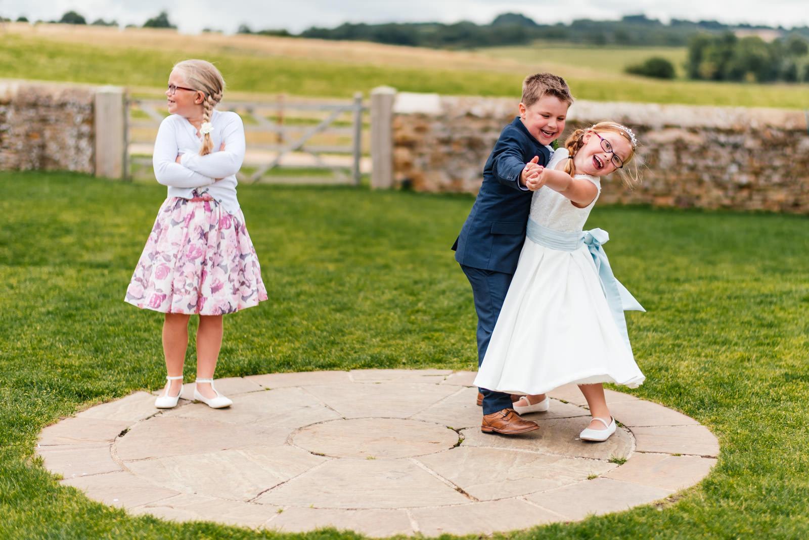 Children Candid Wedding Photo