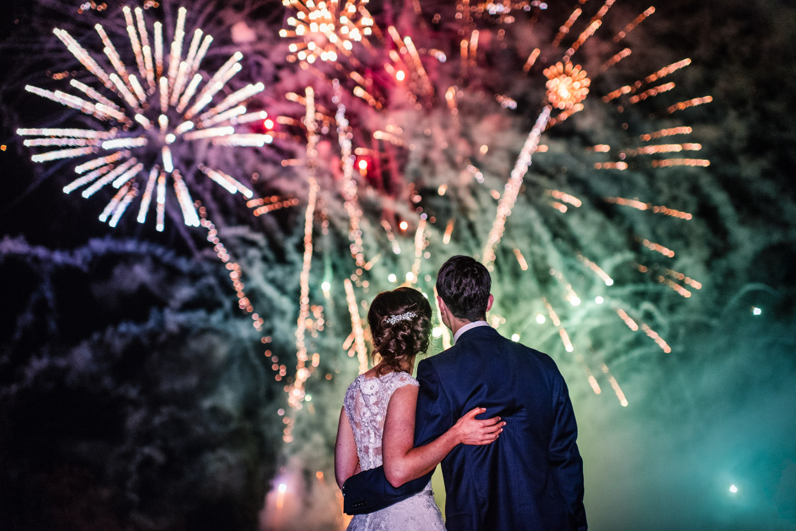 Hedsor House Wedding Fireworks