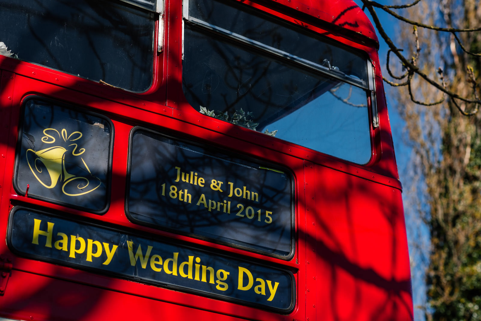 Route master wedding bus