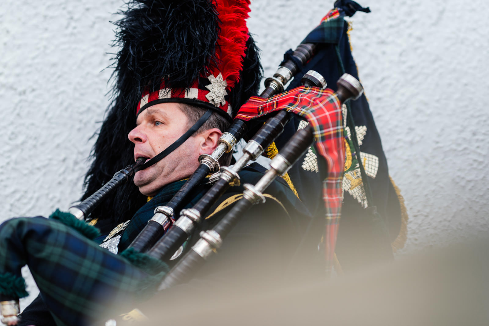 Scottish Piper on Wedding day