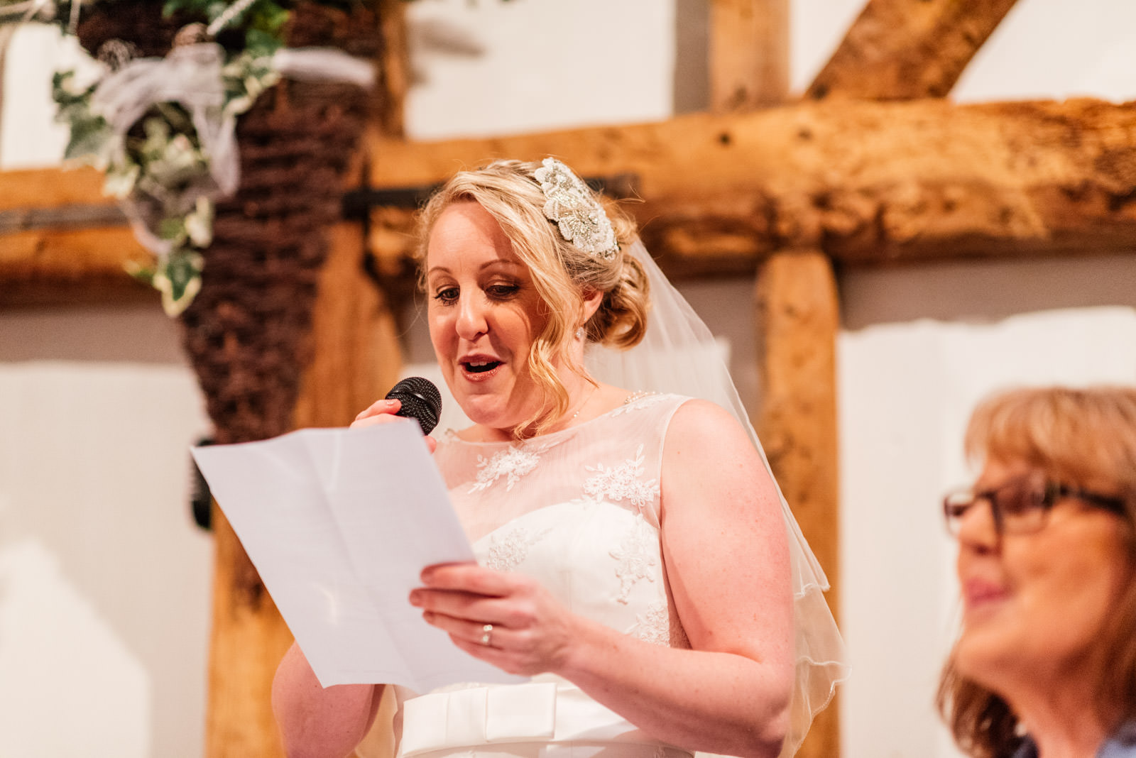 Bride speech on wedding day