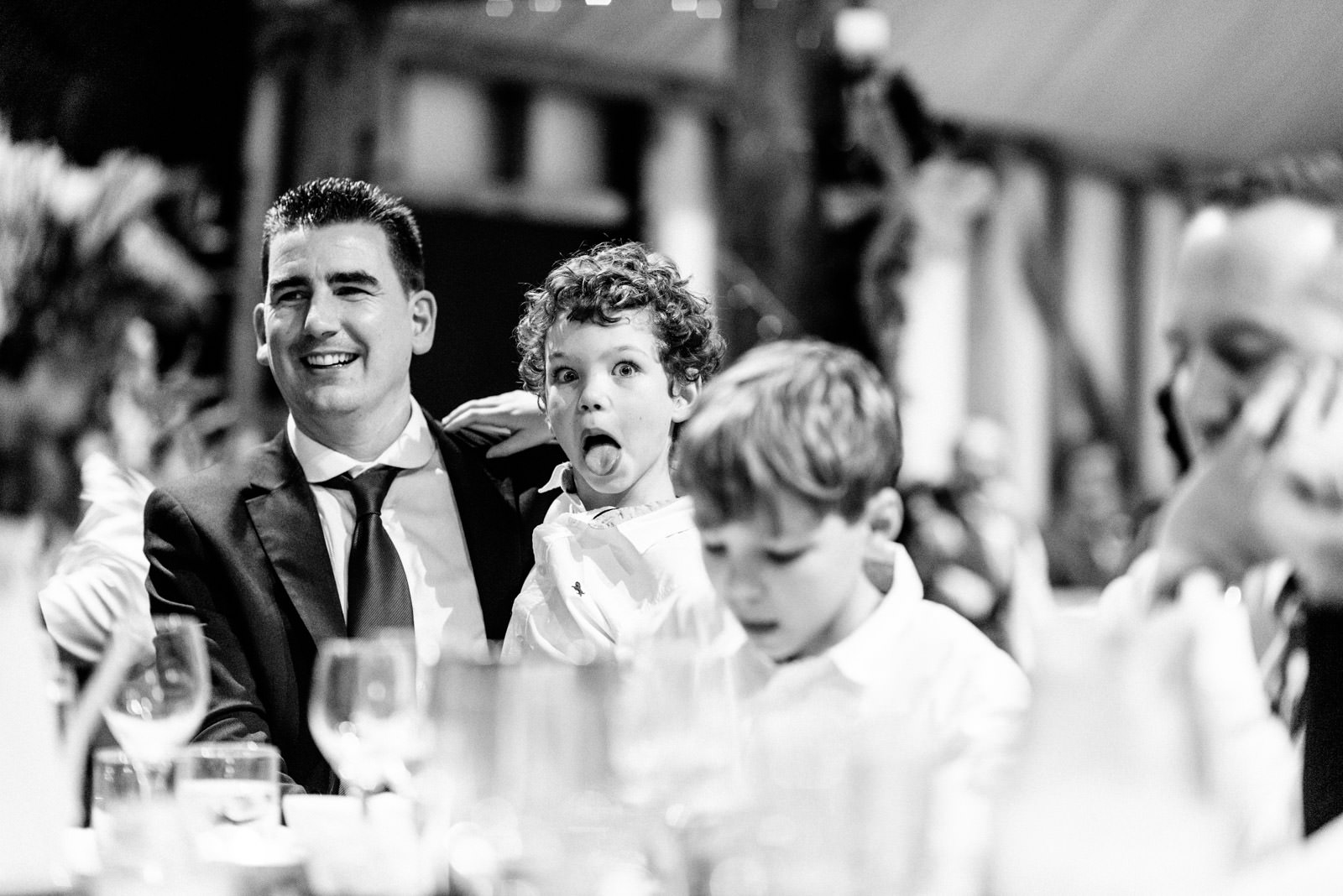 Wedding guest funny face