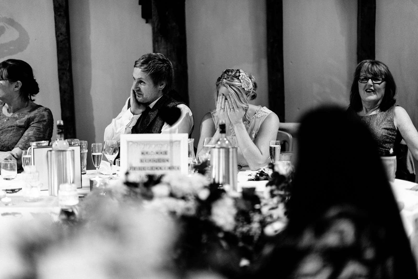 Bride embarrassed by speech
