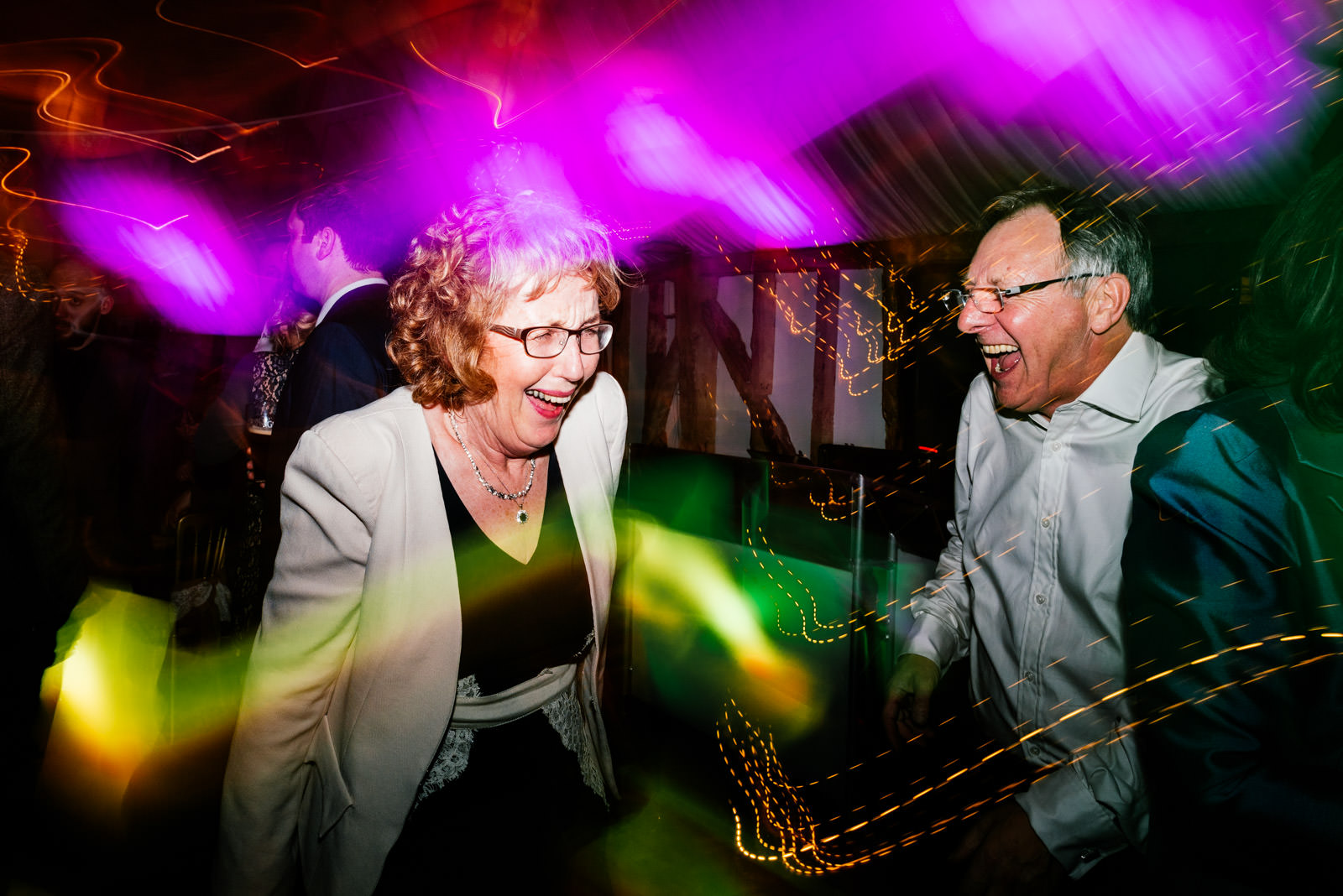 Crazy dancing on wedding day