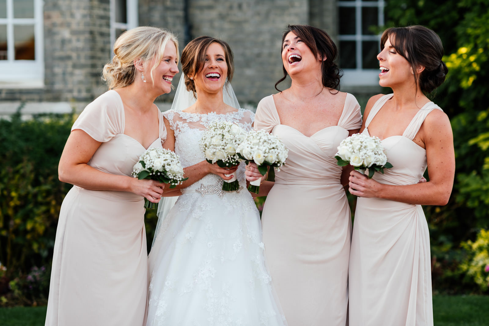 Bridesmaids fun group photo