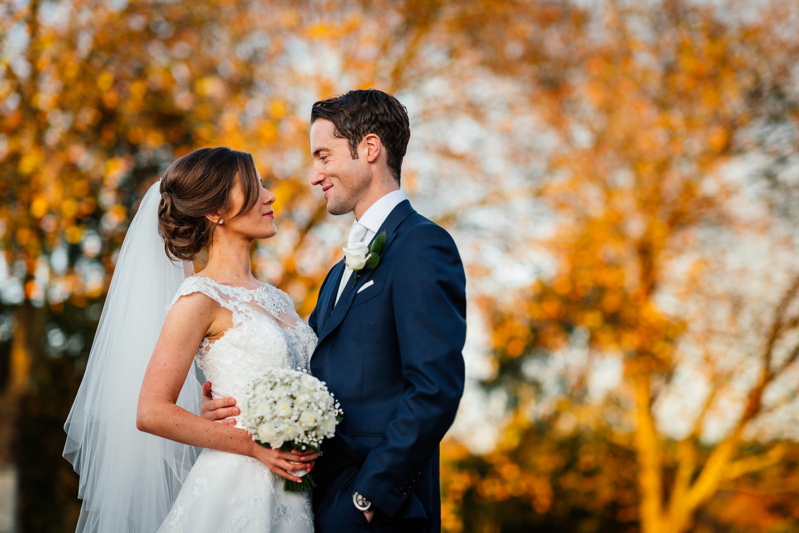 Autumn Bride & Groom portrait