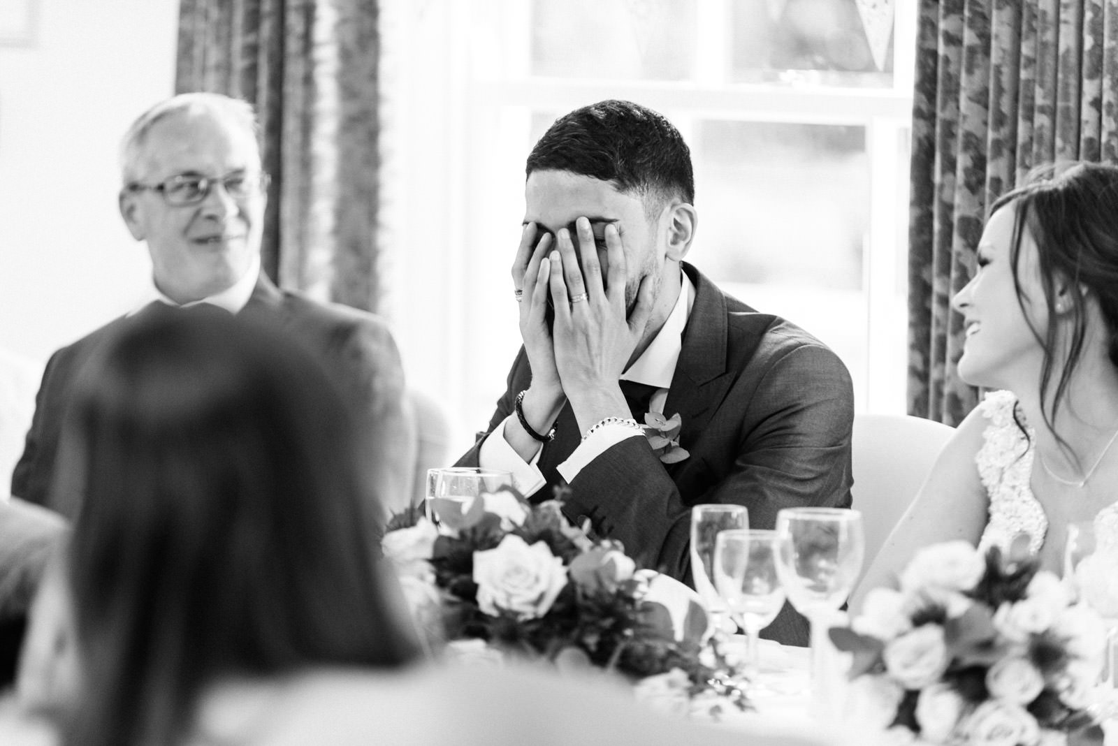 Groom embarrassed