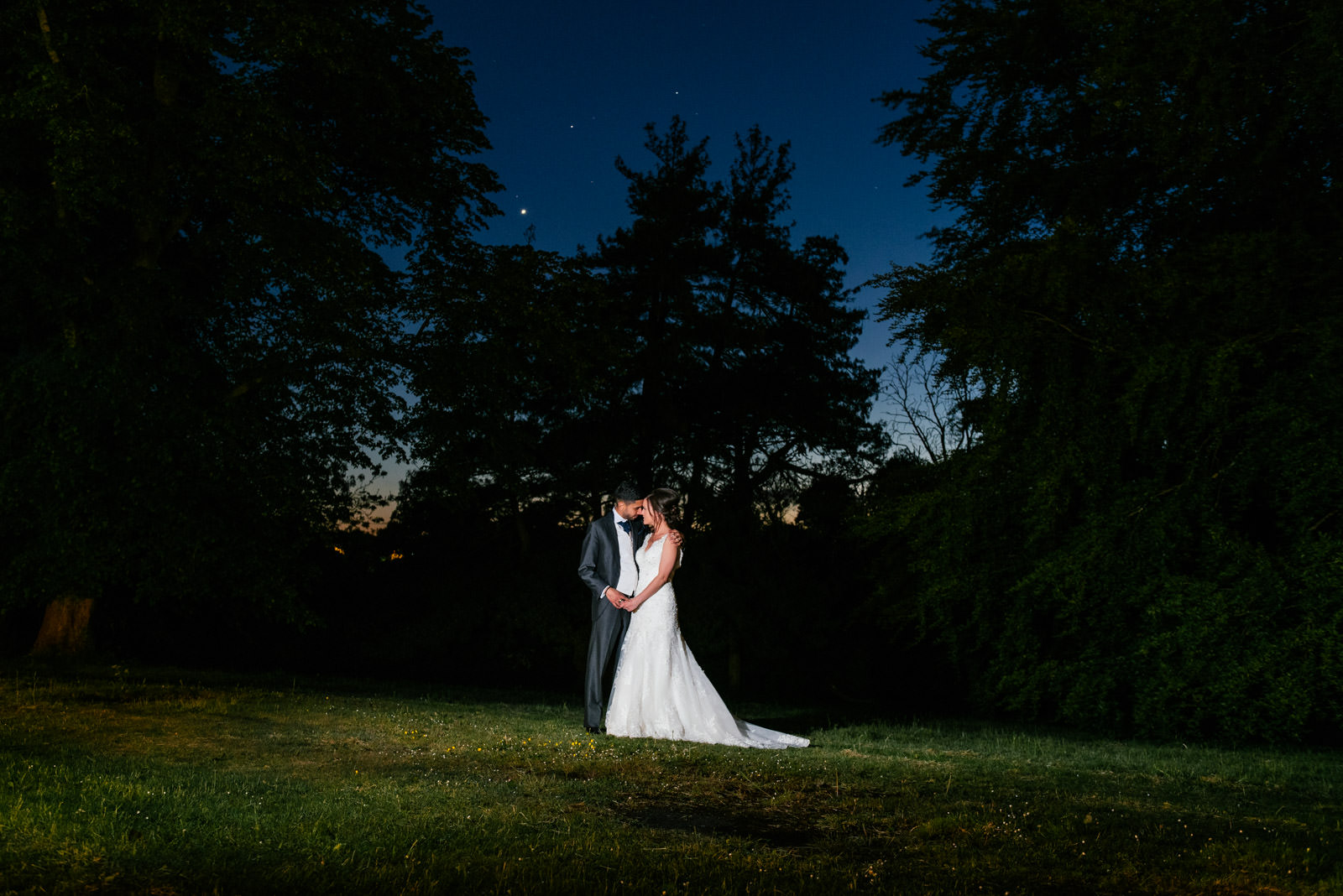 Barton Hall Wedding Bride and Groom Portrait