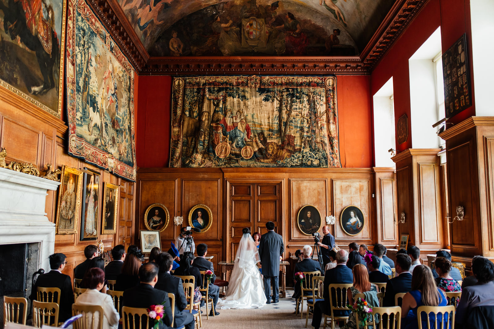 marriage ceremony at boughton house