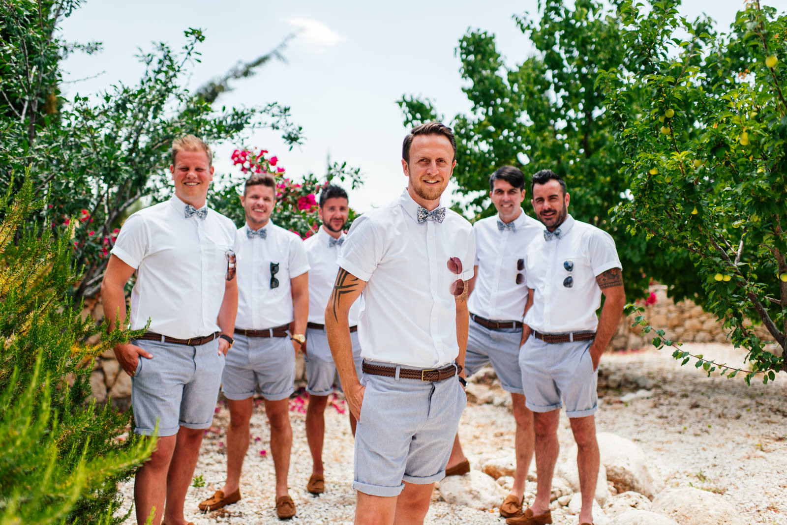 Groomsmen at Kefalonia Wedding