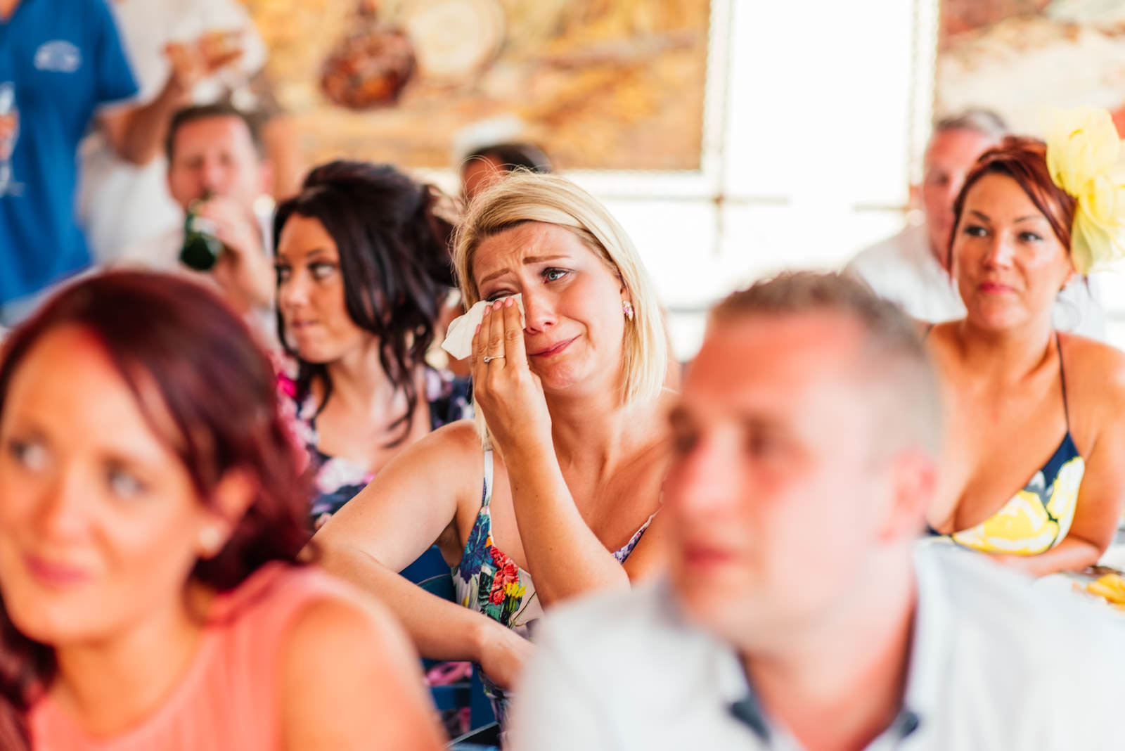 guests crying during the speeches