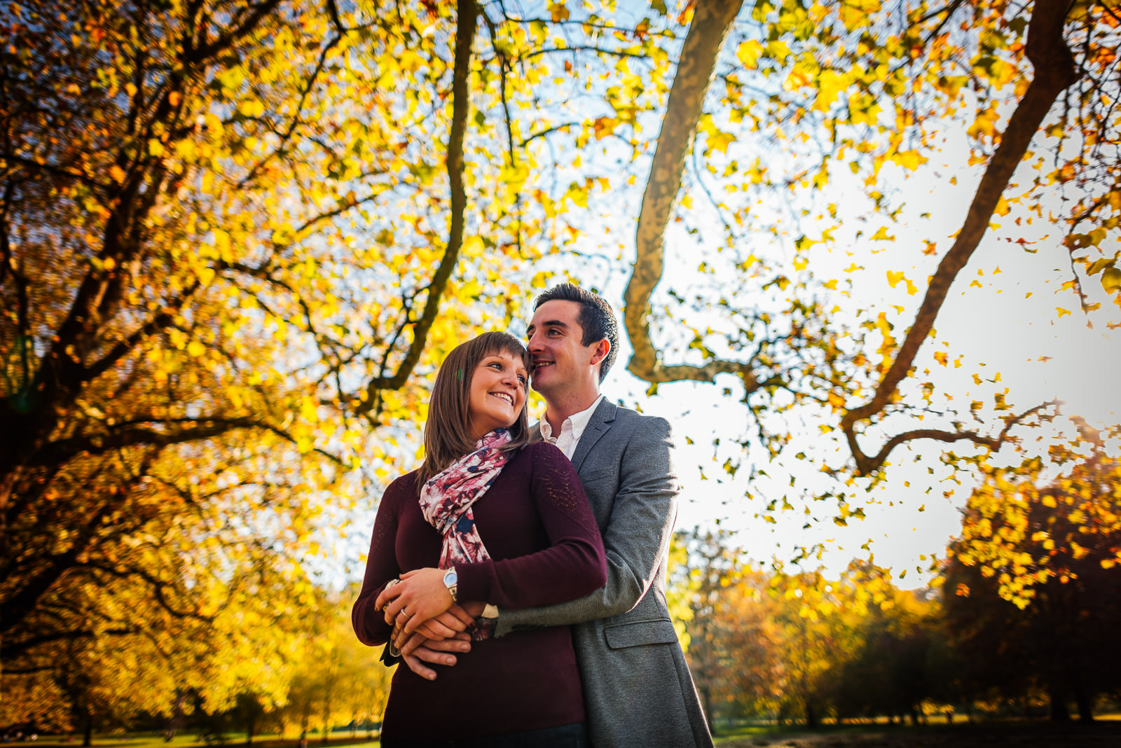 Autumnal London Engagement Shoot