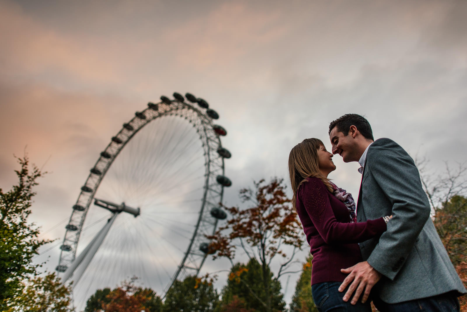London Eye engagement photo