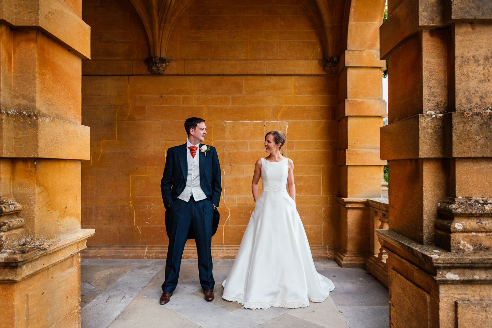 bride and groom portrait at Eynsham Hall