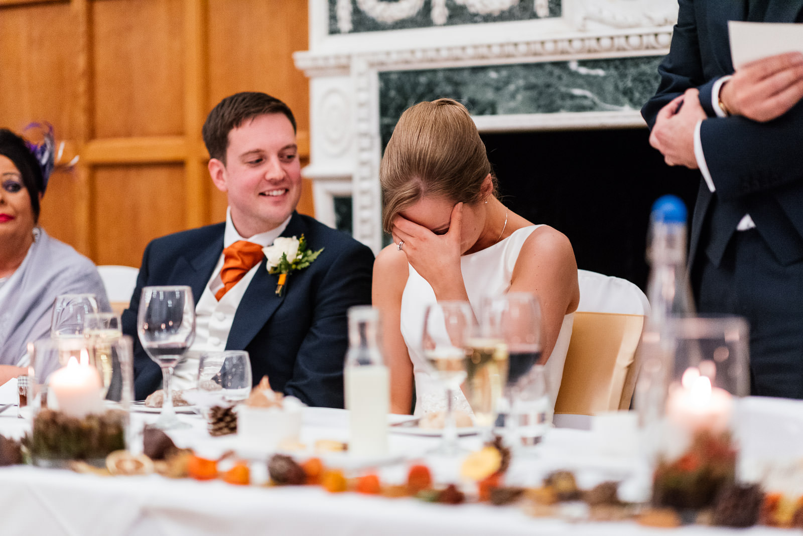 bride embarrassed by fathers speech