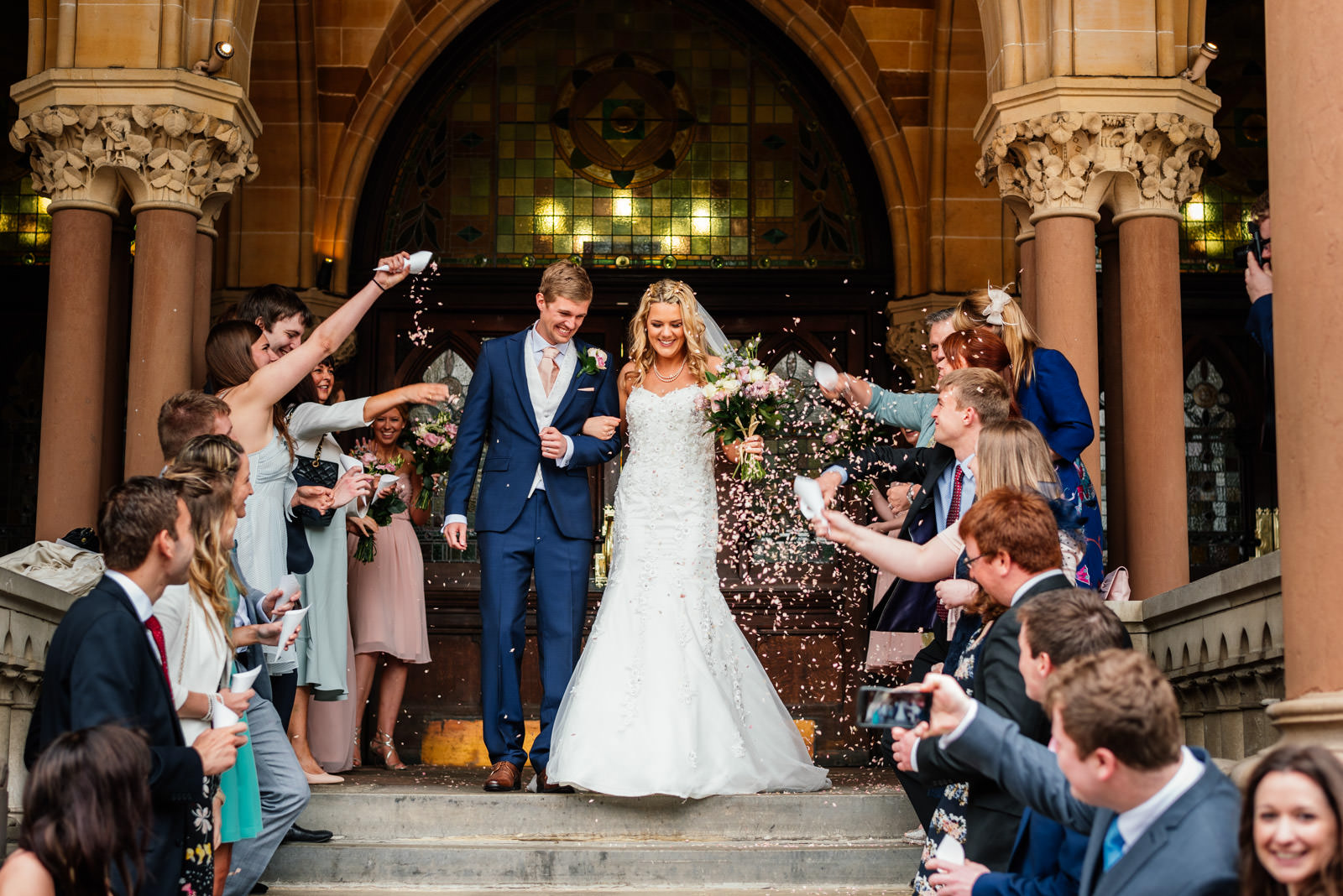 confetti at northampton guildhall