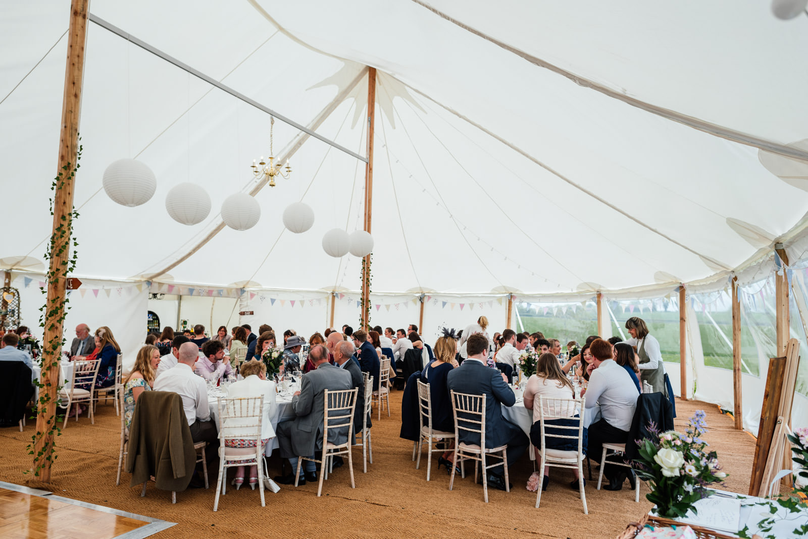 Marquee wedding at Home Farm Braunston