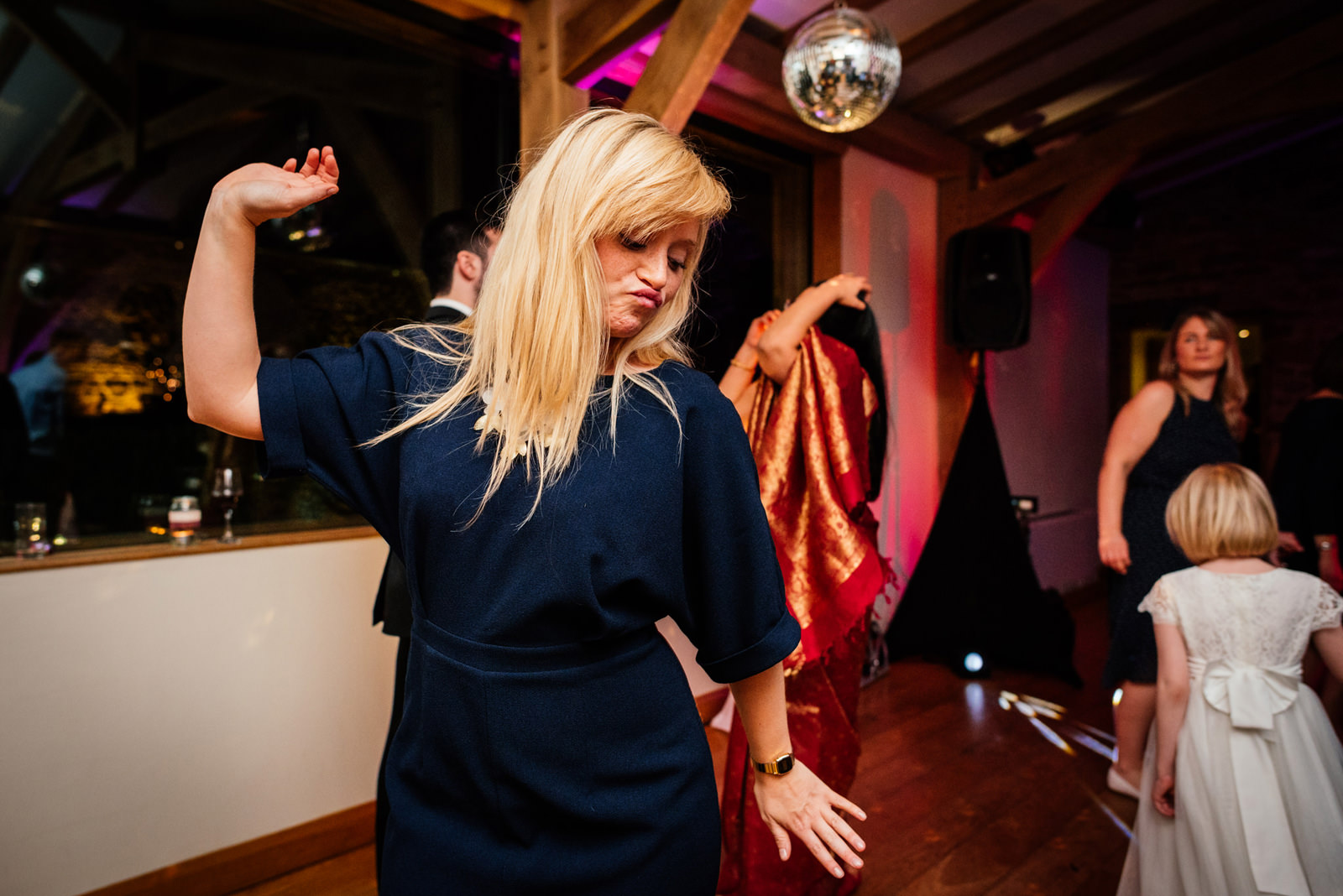 guest throwing shapes on the dance floor