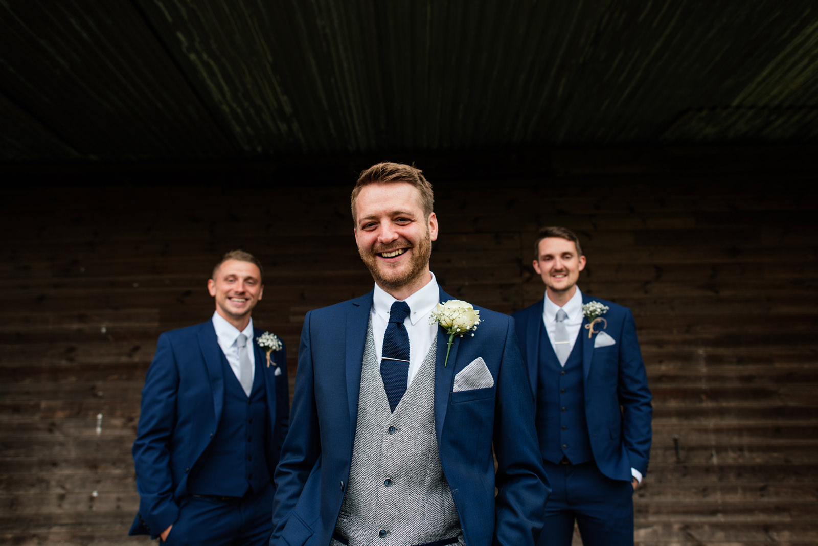 groom with best men