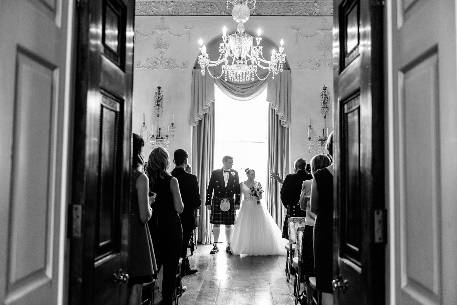 bride and groom exiting the ceremony