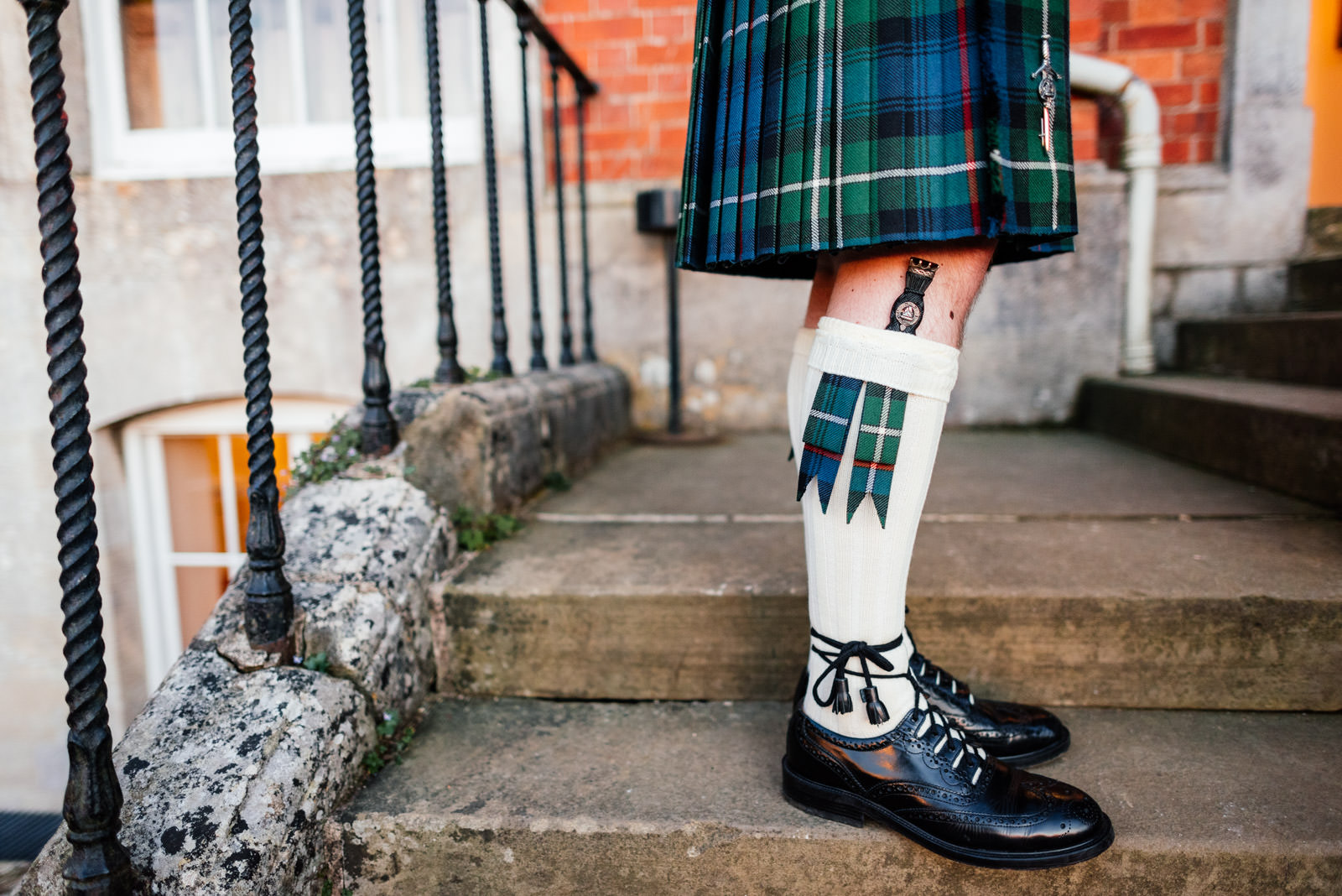 scottish tartan and details