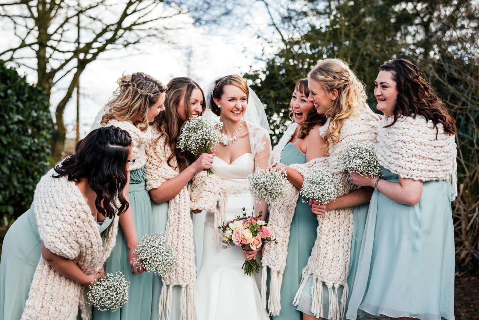 informal bridesmaids group photo