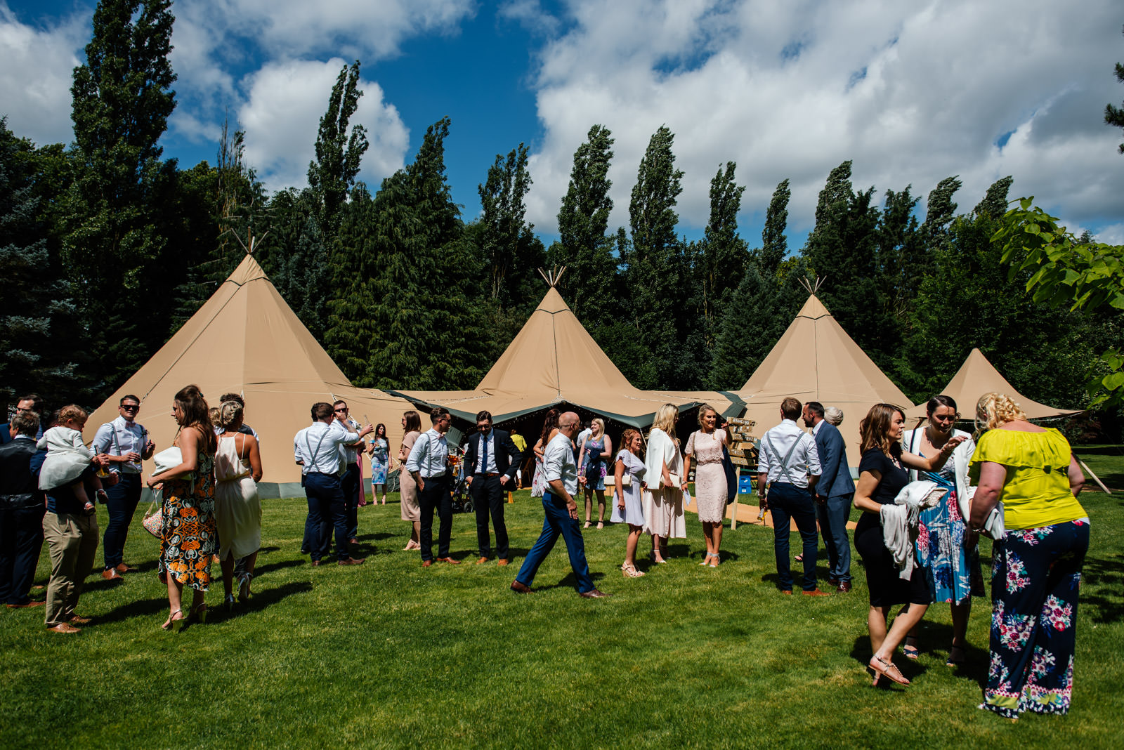 secret garden wedding tipis