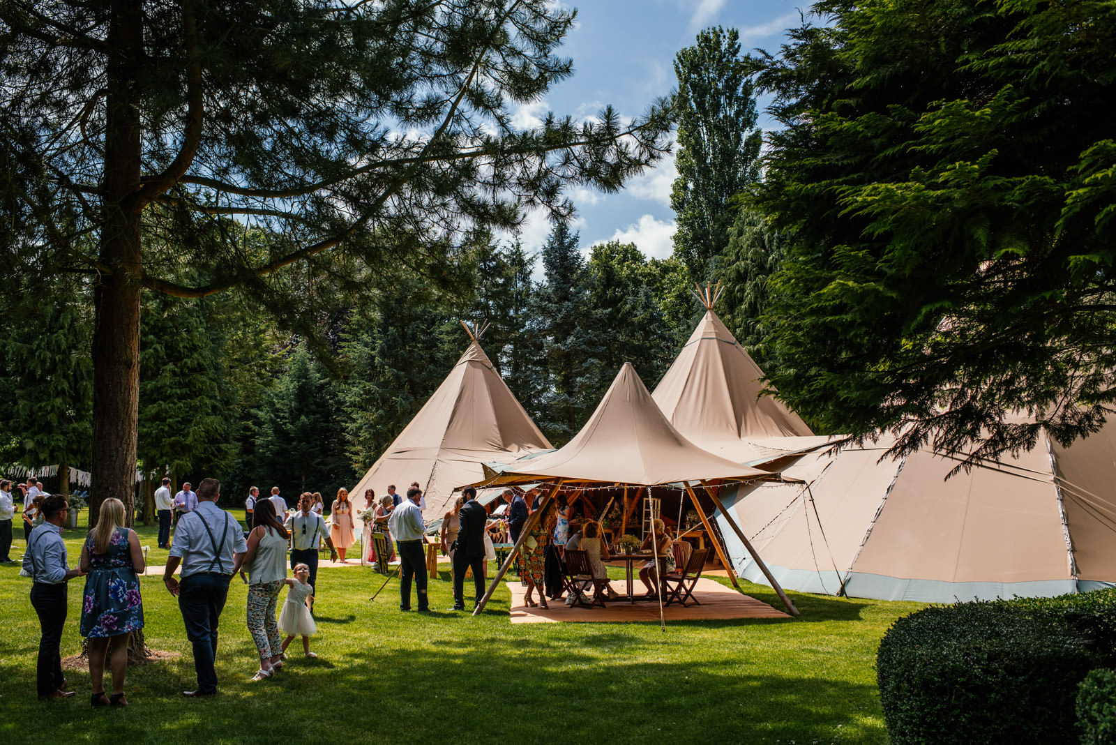 tipi wedding at the secret garden