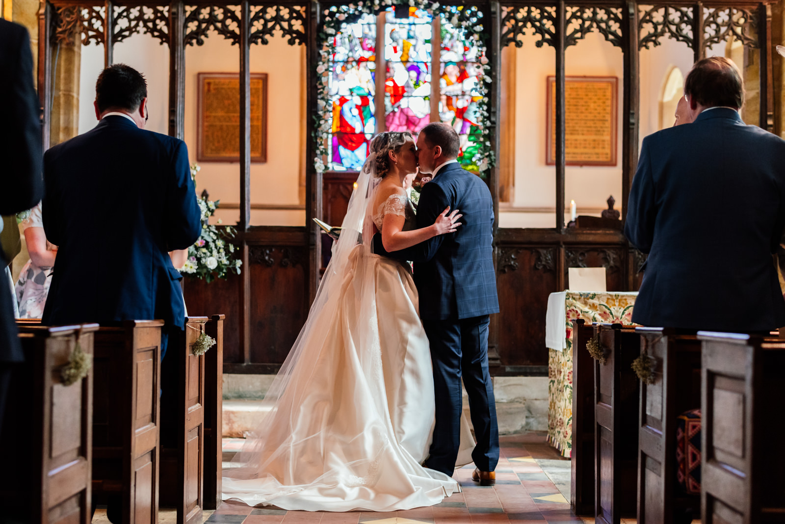 the first kiss during marriage ceremony in dodford church