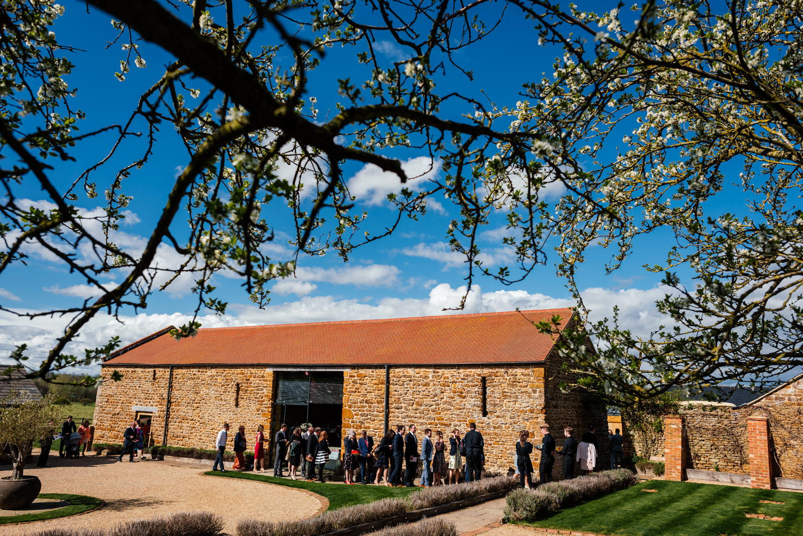 wedding guests arriving at Dodford Manor