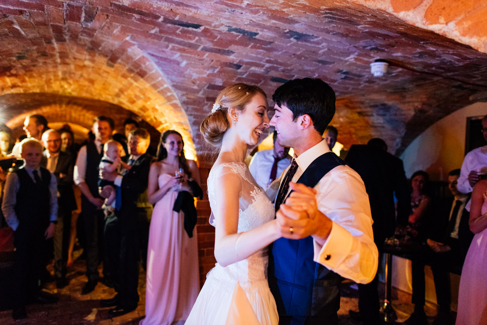 first dance in the cellar bar at rushton hall