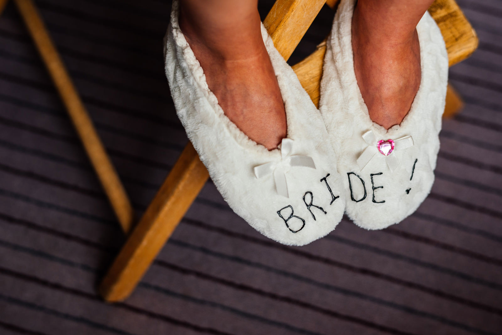 funky slippers for the bride