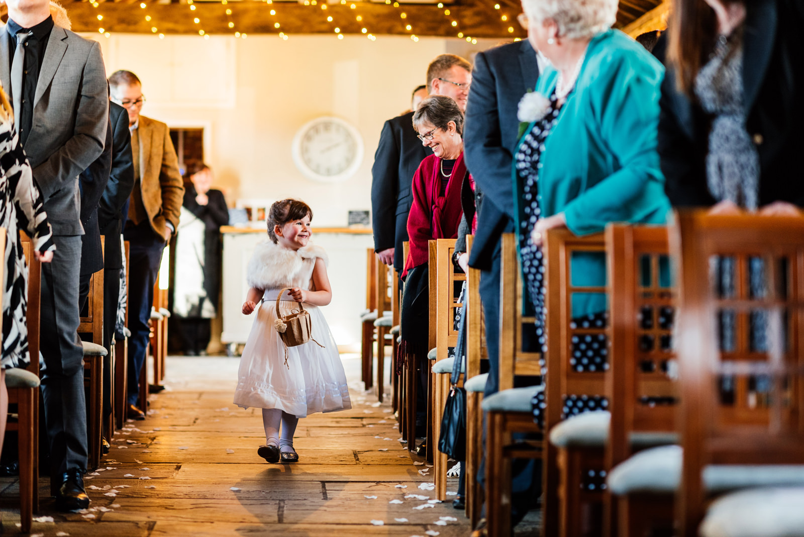 flower girl at dodmoor house wedding