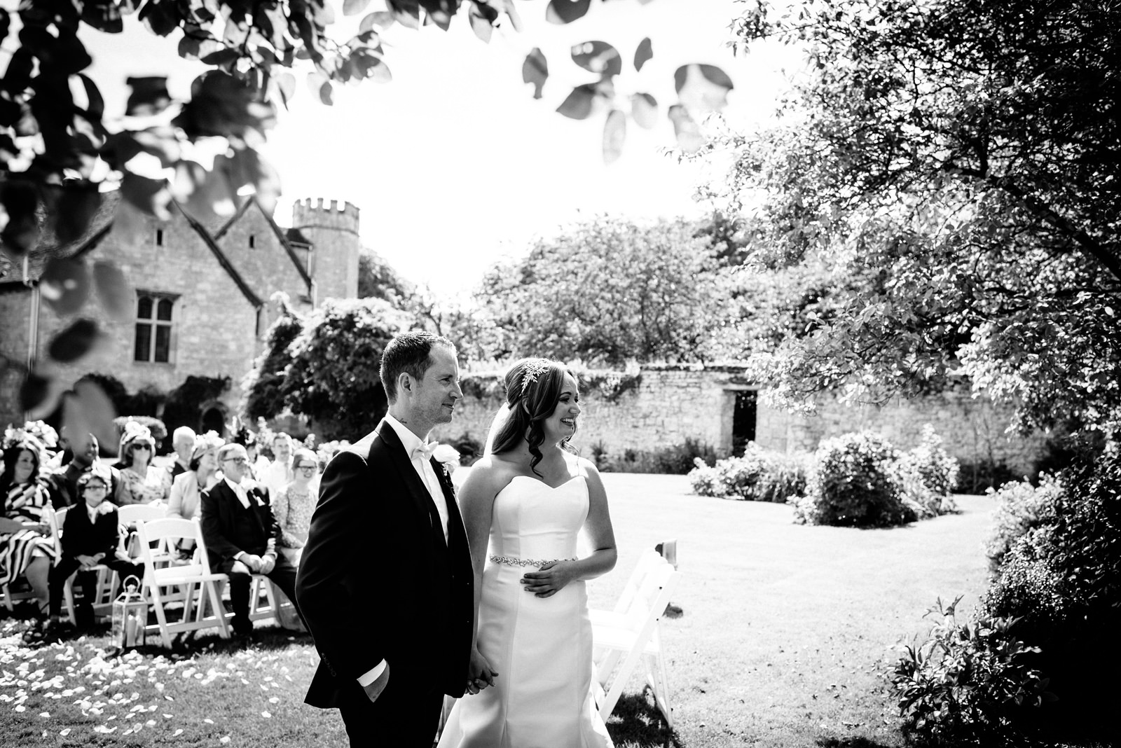 marriage ceremony at Notley Abbey