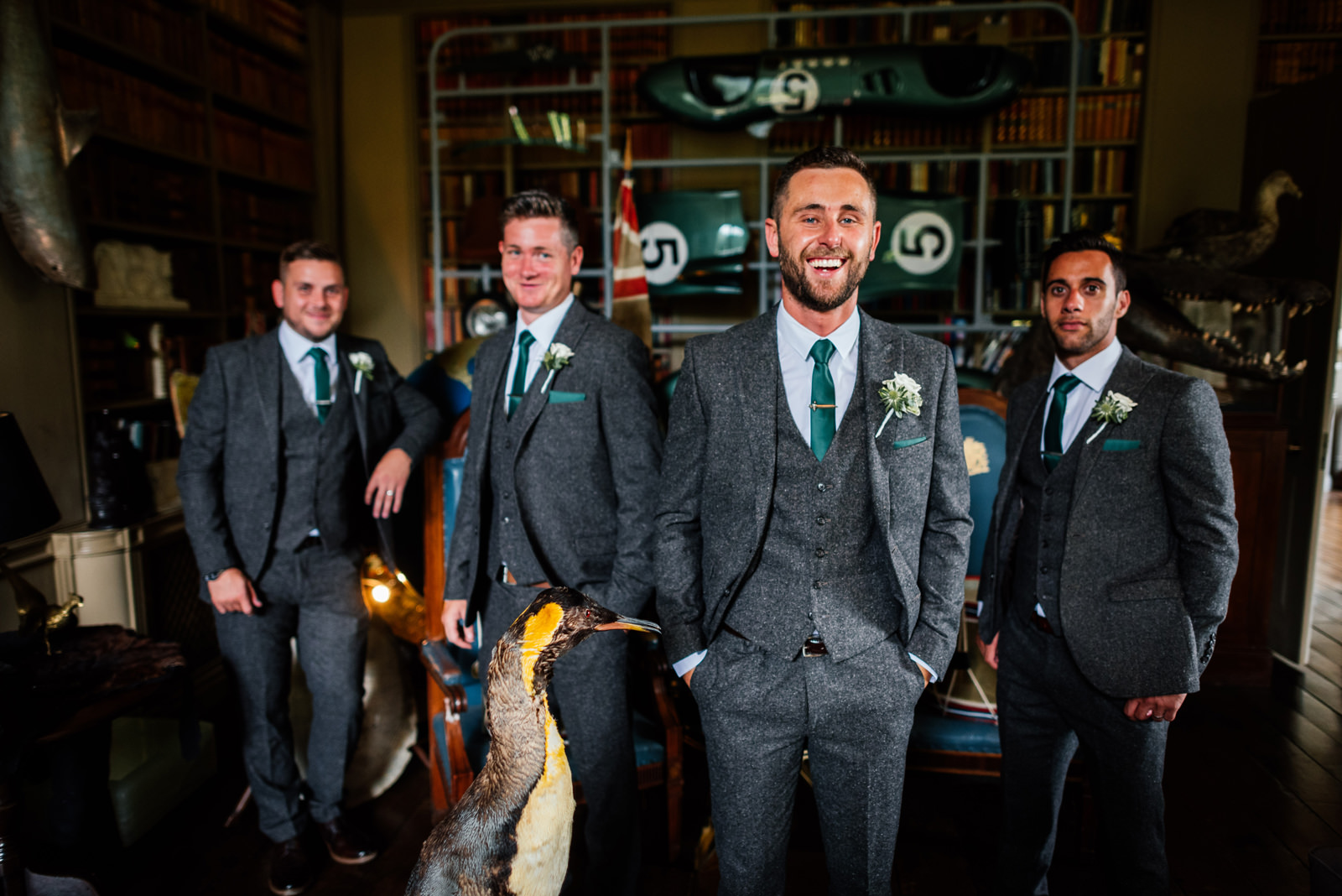 groom and groomsmen at Aynho Park wedding