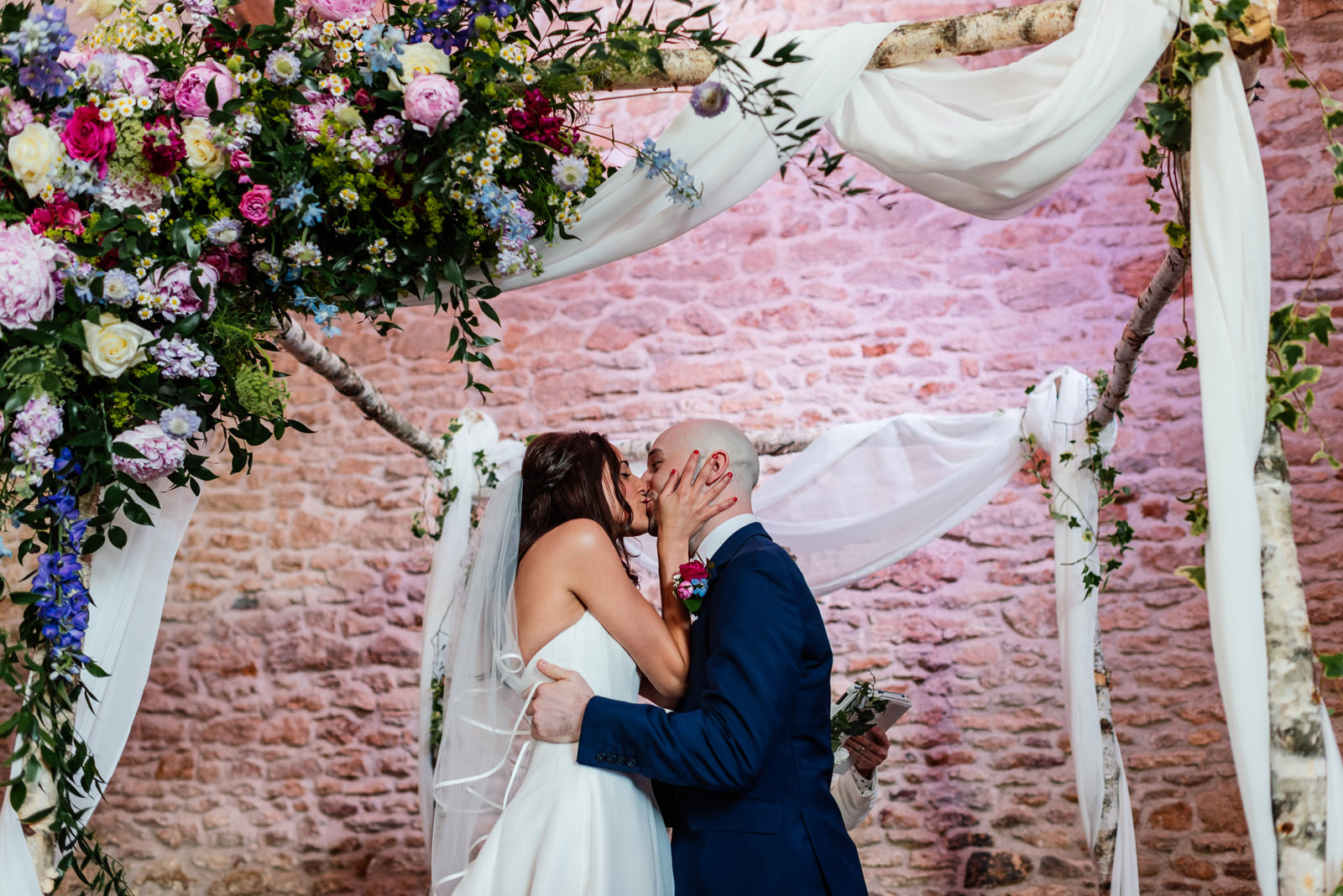 first kiss at jewish wedding