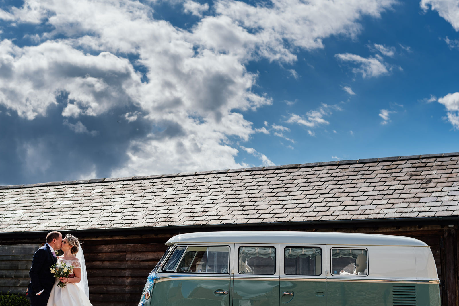 Camper van wedding photo
