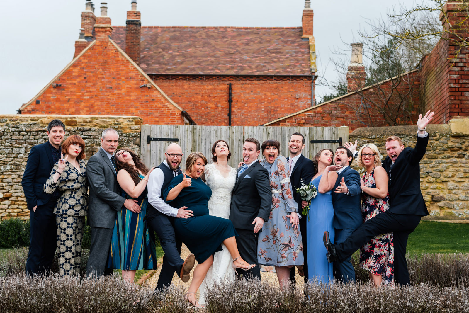 informal group photo of friends at Dodford Manor