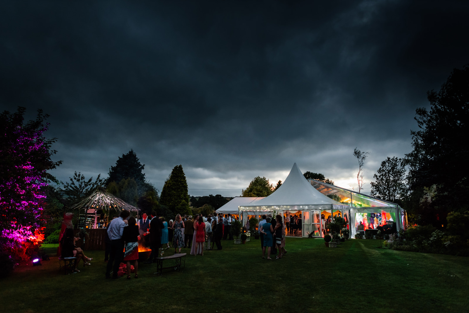 Marquee wedding in the countryside