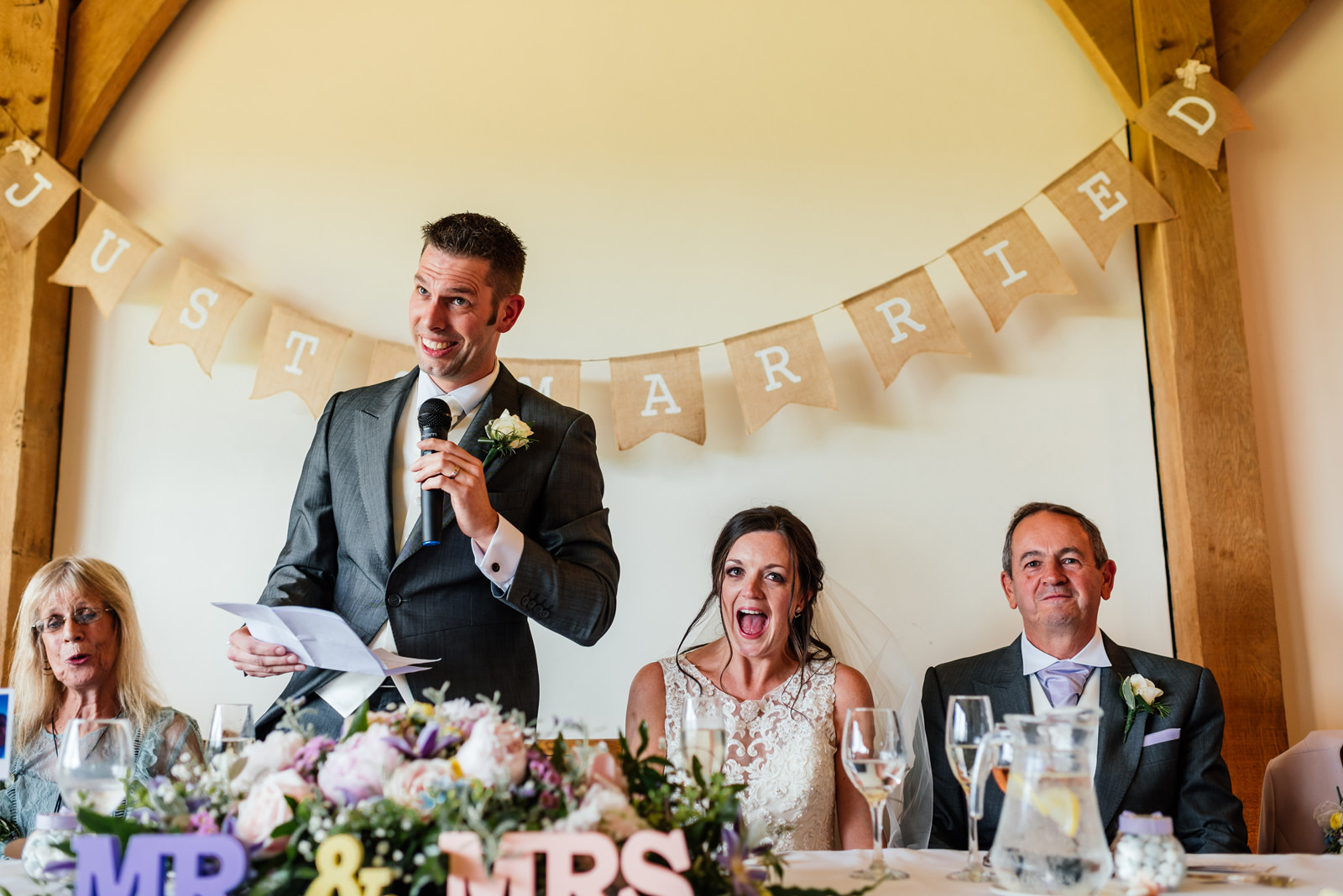 Groom's speech on wedding day