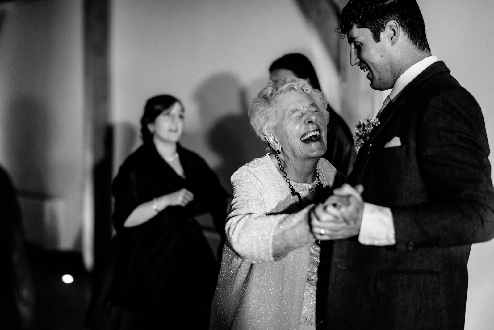 grandma dances with groom