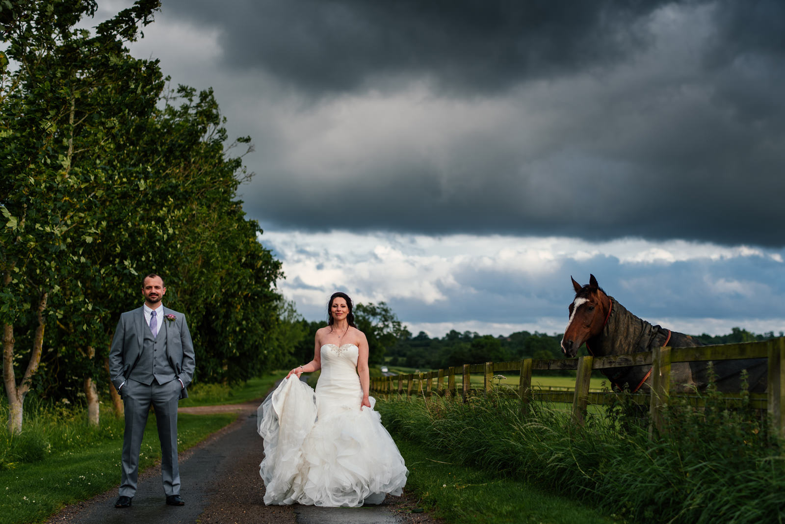 Crockwell Farm wedding portrait