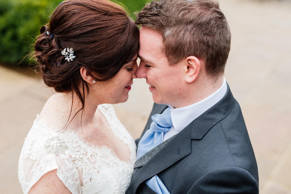 Dodford Manor bride and groom portrait