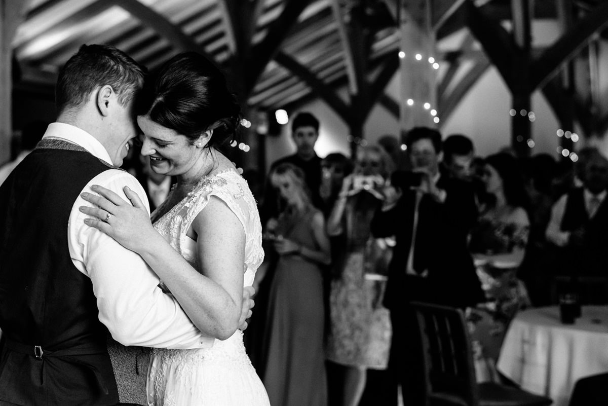 close up of the first dance
