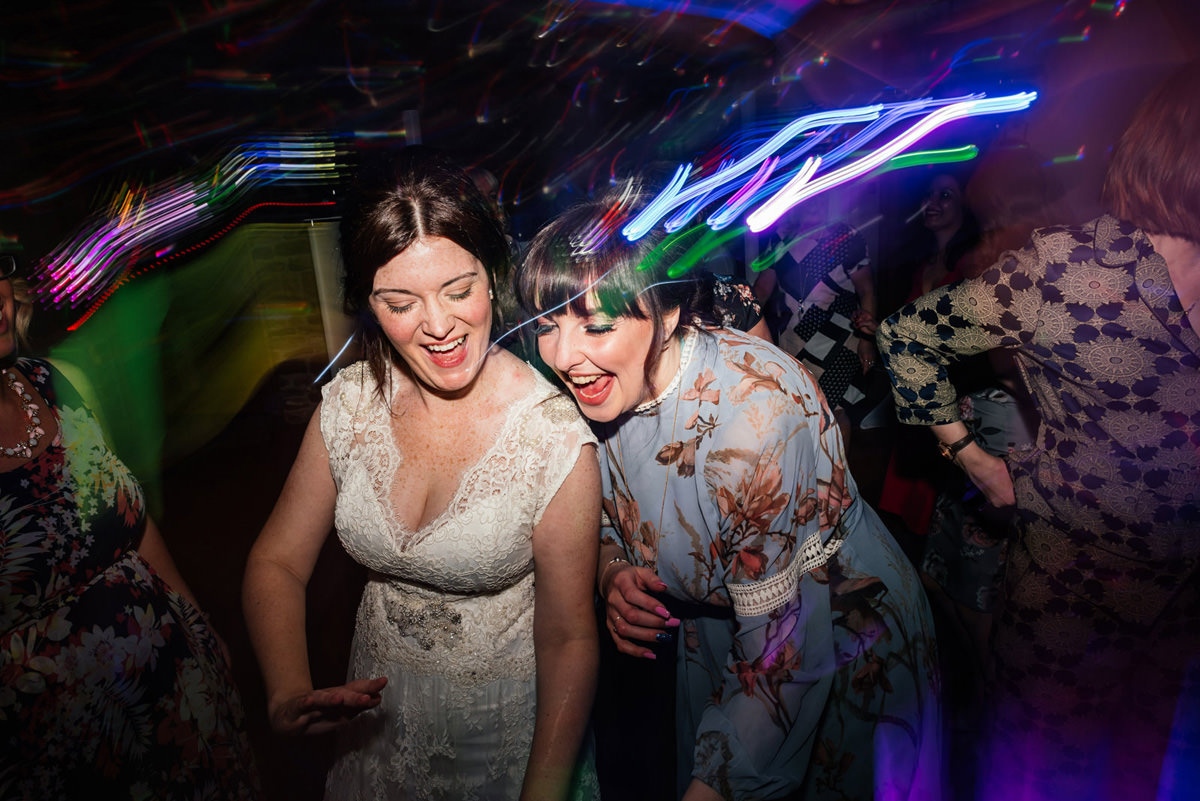 dancing with wedding guests