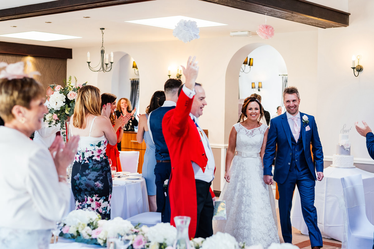 Start of the wedding speeches