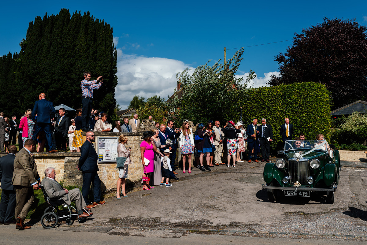 traditional church wedding in the english countryside
