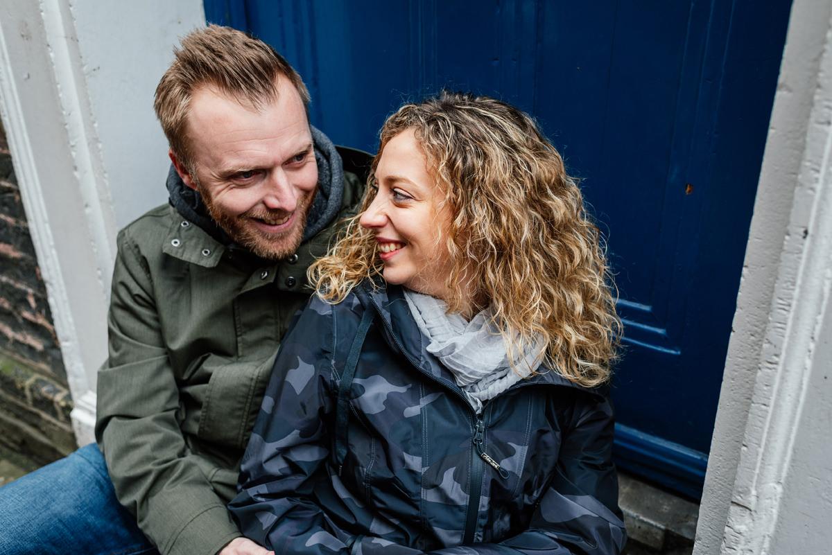 Couples portrait in Cambridge city