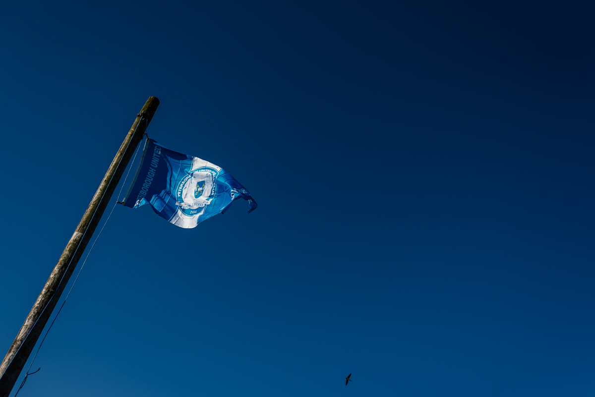 Peterborough United Football Club wedding day flag