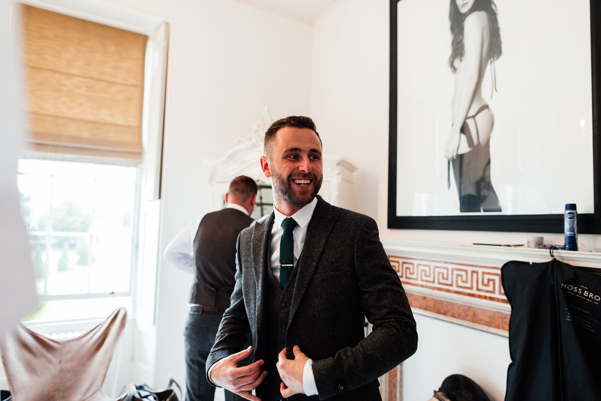 groom nervous ahead of his wedding